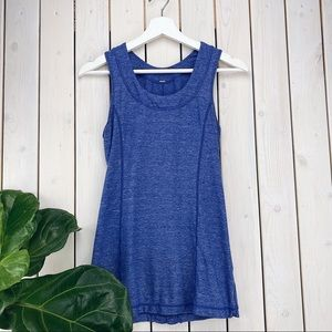 Lululemon athletica | Blue Heathered Ruffle Tank